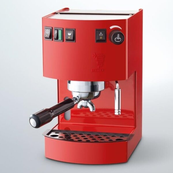 noul espressor Bezzera Hobby Inox Rosu